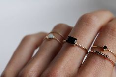 P O P | TheyAllHateUs #rings #black #minimal