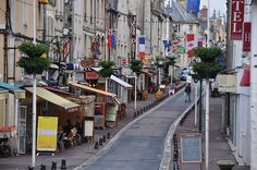 Bayeux, France-main street-all the shops are on this street ...