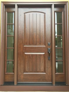 North Carolinians looking for replacement entry doors in Charlotte will not be disappointed with their choices. Whether you prioritize energy efficiency, security, cost or looks, there will be an entry door that will fit your needs. House Roof Design, Home Door Design, Door Design Interior, Main Entrance Door Design, Wooden Front Door Design, Exterior Door Colors, Wood Exterior Door, Craftsman Front Doors, Wood Front Doors