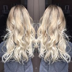Cool icy Beige Blonde by #NSLH using Schwarzkopf Premium Lift 9+ and Vibrance 9-1 & 5-1 on mid lengths and 9-5,1 & 9-5,4 on ends at Adorn Salon in Downtown Asheville