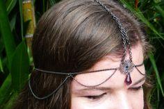 Heron Maiden Headpiece - Bohemian - Tribal - Wedding - Made using recycled materials