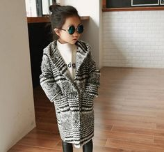 Baby Girls Wool Blend Stripes Hooded Coats Long Outwears Pockets and Lining Fall Winter Warm Clothing Christmas Clothes-in Jackets & Coats from Mother & Kids on Aliexpress.com | Alibaba Group