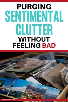 Tips for decluttering the more difficult sentimental items in your home. Organization Hacks, Organizing Tips, Organising, Cluttered Bedroom, Messy People, Clutter Solutions, Clutter Free Home, Useful Life Hacks, Decluttering