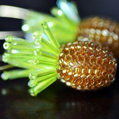 Cute Little Pineapples - handmade beaded pineapple dangle earrings | HeartinHawaii - Jewelry on ArtFire