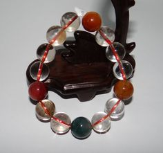 "0.6"" China Certified Nature Crystal Fukurokuj Color Round Pearls Bangle Bracelet Bracelet Antique, Bangle Bracelets, Bangles, Hand Sculpture, Present Gift, Bracelet Designs, Birthday Gifts, Gems, China"