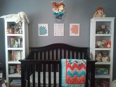 Babies nursery...Orange Limeade, baby nursery ideas on Etsy, $45.00
