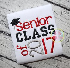 I2S Senior Class of 2017 Embroidery