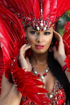 Rukai Harts Carnival Head & Arm Piece are GORGEOUS Trinidad Carnival 2015
