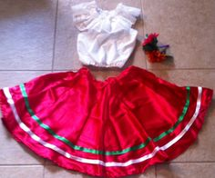 Traditional Mexican Folk Dance Girl's Dress Costume Size Small | eBay