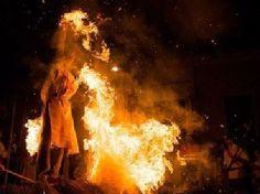 7 Personas acusadas de brujerias fueron quemadas vivas