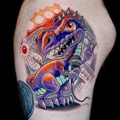 Ink Master: Revenge Done by: St. Marq  Challenge: New School Dinosaur  Set by: Jime Litwalk
