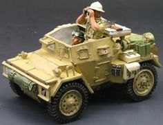 World War II British Army EA010 Dingo Scout Car - Made by King and Country Military Miniatures and Models. Factory made, hand assembled, painted and boxed in a padded decorative box. Excellent gift for the enthusiast.