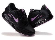 Cheap Air Max 90 Women Black Purple - $66.89