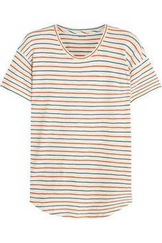 Madewell | Whisper striped cotton-jersey T-shirt | NET-A-PORTER.COM