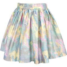 Pre-owned Skot Pastel Dupioni Silk Pleated Skirt (£46) ❤ liked on Polyvore featuring skirts, mini skirts, bottoms, faldas, saias, pleated mini skirt, silk mini skirt, silk skirt, pleated skirt and silk pleated skirt