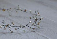 head wreath no.61  river pearls, majorca pearls, jade, agate, beads  http://www.lucjazajac.com https://www.facebook.com/lucjazajacatelier