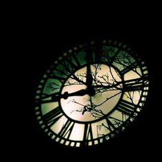 The Dark Night of the Soul  5 x 5 inch time clock by LittleOddMe, $8.75