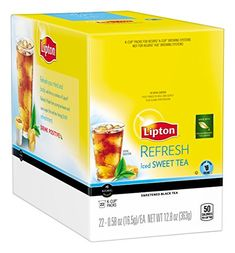 Lipton K-Cups, Refresh Iced Sweet Tea 22 ct *** Click image for more details.
