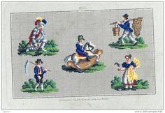 Sajou. Country Life? Mini Cross Stitch, Cross Stitch Charts, Cross Stitch Patterns, Victorian Pattern, Retro 4, Vintage Cross Stitches, Needlepoint, Needlework, Kids Rugs