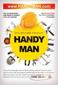 Handyman Ted Flyer   Projects   Pinterest   Business