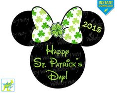 St Patricks Day MINNIE Printable Iron On Transfer by TheWallabyWay