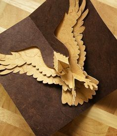 Kirigami Eagle Popup Card Make Yourself by popupcardmaking on Etsy, $3.95