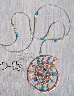 """D-fly """"Спиральная ракушка"""" Ожерелье с кулоном"""