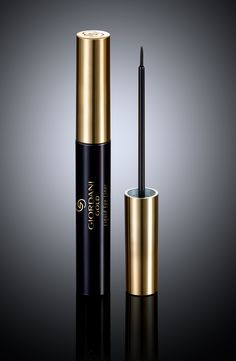 Beautifully lined eyes, every time, are your for the taking, with the new Giordani Gold Liquid Eyeliner.