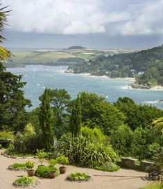 The view over the Salcombe estuary from the house and garden at Overbeck's, Devon, UK just the most beautiful place