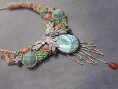 """Alicante Chassagne : bijoux uniques - Création de bijoux haute couture - Collier """"Printemps"""""""