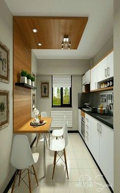 Modern Kitchen Interior Remodeling Don't really feel limited by a small kitchen area. These 50 layouts for smaller sized kitchen rooms to inspire you to take advantage of your own tiny kitchen Kitchen Interior, Kitchen Design Small, Kitchen Remodel, Kitchen Decor, Small Kitchen Tables, New Kitchen, Simple Kitchen Design, Kitchen Sets, Small Kitchen Decor