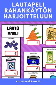 Kids Education, Special Education, Finnish Language, Daily Activities, Speech And Language, Teaching, Games, School