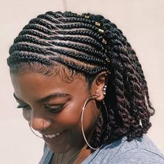 Natural Braided Hairstyles, African Braids Hairstyles, Protective Hairstyles, Cool Hairstyles, Natural Hair Regimen, Natural Hair Tips, Natural Hair Styles, Cabello Afro Natural, Coily Hair