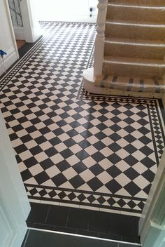 Tile shop in Derby supplying slate, marble, mosaic, porecelain, terracotta and victorian tiles for bathrooms and kitchens Victorian Hallway Tiles, Tiled Hallway, Victorian Flooring, Hall Tiles, Hall Flooring, Flur Design, Hallway Inspiration, Hallway Designs, Hallway Decorating