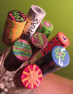 Vegetable Spirit Garden Markers AND Seeds by earthlovinhippie. $20.00, via Etsy.