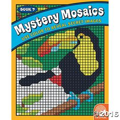 Mystery Mosaics: Book 7  At first glance, you will have absolutely no clue what each completed image might turn out to be...follow the number guide, apply color, and watch the incredible mosaic picture take shape! #MindWareToys #FreePrintable #ColorByNumber