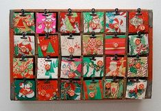 Easy DIY Christmas crafts, like this Crafty Coca Cola Advent Calendar from I Love to Create, are great holiday projects! Made from an old soda crate, vintage paper, and bingo numbers, this vintage Christmas decor is perfect for counting down the days until the big day!