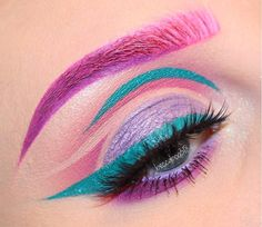Secret Tricks Uses Colorful Eyeshadow 28 is part of eye-makeup - Visit the post for Edgy Makeup, Makeup Eye Looks, Eye Makeup Art, Crazy Makeup, Eyeshadow Makeup, Loreal Eyeliner, Gray Eyeshadow, Eyeshadow Palette, Eyeshadows