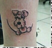 Super cute schnauzer tattoo