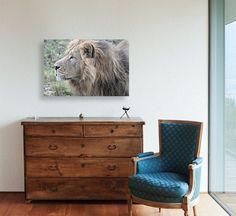 Side Profile, Printable Wall Art, Wall Art Decor, Close Up, Lion, Animal, Space, Digital, Interior
