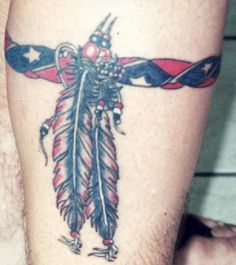 Rebel Flag Leg Band Tattoo - Cool Rebel Flag Tattoos, http://hative.com/30-cool-rebel-flag-tattoos/,