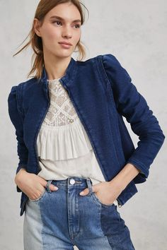 Pilcro Anita Cropped Jacket | Anthropologie