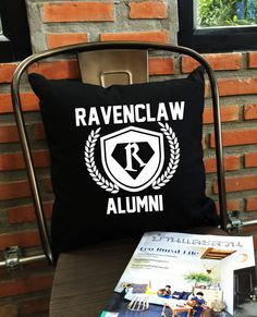 Ravenclaw Alumni throw pillow cover harry potter by Lessssismoreee