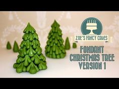 Christmas toppers, cakes and decorations #1: Christmas tree fondant cake topper version 1 video tutorial - CakesDecor