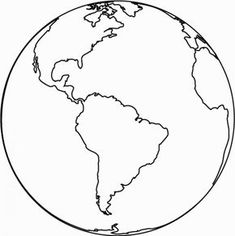 Coloring Picture Of Earth