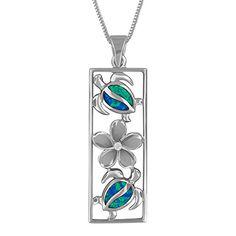 16+2 Extender Sterling Silver Teardrop Plumeria Pendant Necklace