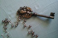Steampunk Necklace Octopus Key Necklace Steampunk Nautical