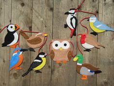 Decorating Ideas For Kids Rooms Felt Bunting, Felt Garland, Bird Nursery, Animal Nursery, Felt Animals, Animals For Kids, Felt Decorations, Christmas Decorations, Wildlife Decor