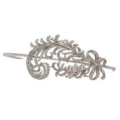 amazing feather head band for the wedding