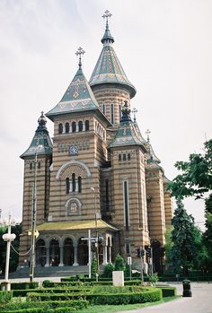 The Metropolitan Cathedral of Banat; Mosques, Cathedrals, Out Of This World, All Over The World, Bulgaria, Timisoara Romania, Visit Romania, Place Of Worship, Crosses